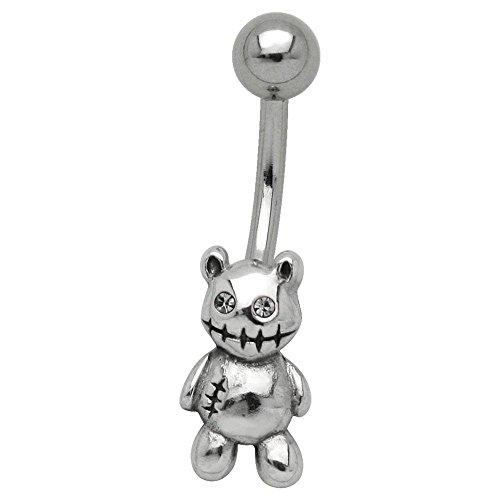 BodyJewelleryShop Niedlich Bauchn - Zombie Teddy Bear 10mm