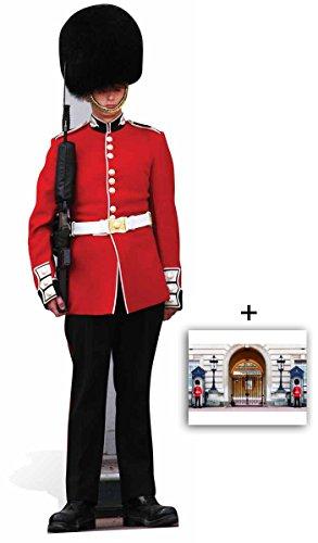 Queen Elizabeth II bewachen Königlicher Gardist Lebensgrosse Pappaufsteller - mit 25cm x 20cm foto