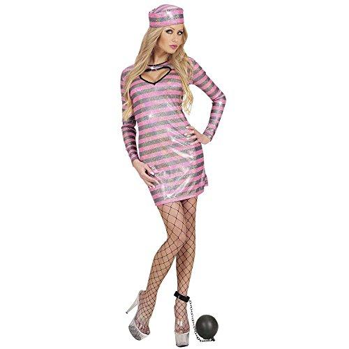 Widmann 77281 Erwachsenenkostüm Häftlings Girl, Kleid und Hut, S, S
