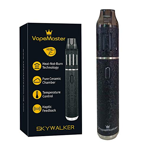 Deluxe Dry Herb Vaporizer Pen, VapeMaster Skywalker Portable Herbal Vaporizer - New Baking Tech, Ceramic Chamber,Temperature Control, Pure Clean Vapor