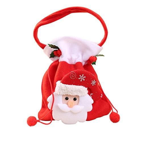 HWTOP Santa Candy Bag Frohe Weihnachten Süßigkeit Tasche Snack-Paket Kinder Haushalt Kid Geschenktasche Garden Home Decor