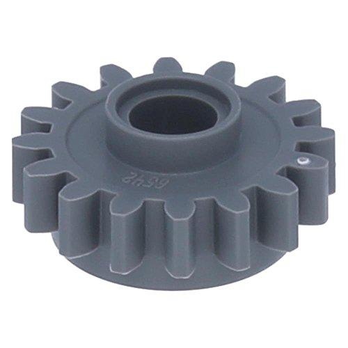 5 x LEGO® Technik, Zahnrad 16 Zähne mit Fang, glatt Dunkelgrau