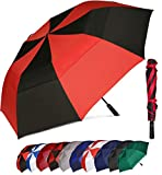 BAGAIL 62 Inch Portable Golf Umbrella Large Oversize Double Canopy Vented...