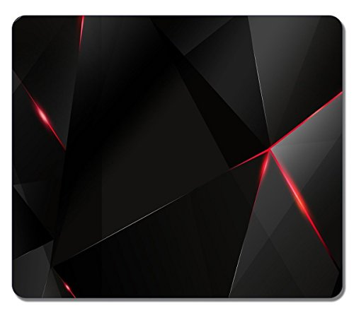 Creative Painting Custom Rectangle Black And Red Abstract 07 Large Mouse Pad Durable Mouse Mat Gaming Mouse Pad