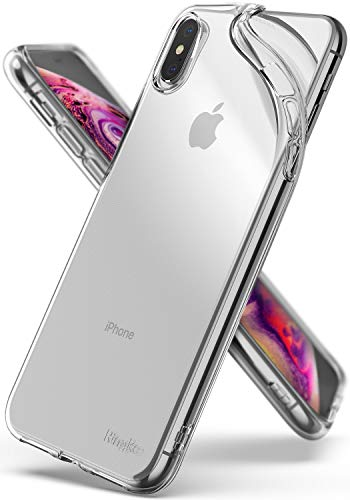 Ringke Air Compatible with iPhone Xs Max Case Qi Wireless Charging Compatible Lightweight Transparent Flexible TPU Scratch Resistant Cover for iPhone Xs Max 6.5 inch (2018) - Clear