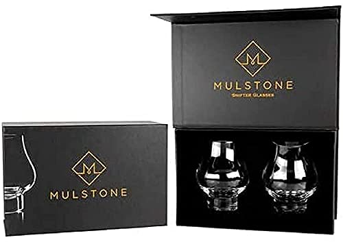MULSTONE Snifter Whiskey Glasses Set of 2 Gift Set - Lead-Free Crystal...