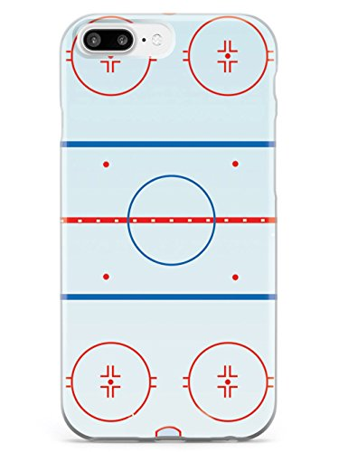 Inspired Cases - 3D Textured iPhone 8 Plus Case - Rubber Bumper Cover - Protective Phone Case for Apple iPhone 8 Plus - Hockey Rink - Court Outline