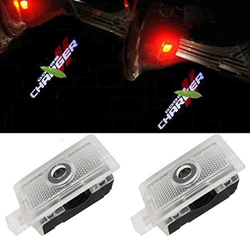 Luz de bienvenida de la puerta del coche 6pcs logotipo de las luces del proyector Bienvenido sombra del fantasma de la lámpara de cortesía Paso cargador de Dodge Avenger Serie Magnum