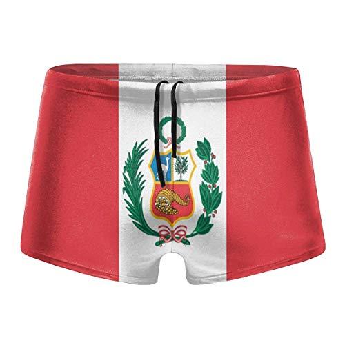 YYRR Peru Flag Men Swimwear Bikini Swim Brief Board Shorts Surf Boxer Trunks Trajes de baño