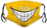Máscara resistente al viento anti polvo Scraf ajustable Smile and Laugh Happy Everyday
