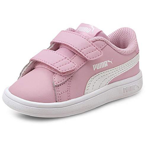 PUMA Jungen Unisex Kinder Smash v2 L V Inf Sneaker, Pale Pink White, 26 EU