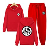 Goku Costume for Kid 4-6 Long-Sleeved Sweaters Sun Wukong Sweatsuits L Red