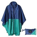 JNX - Poncho impermeable con capucha impermeable para adultos, hombres y mujeres con bolsillos Kenzo