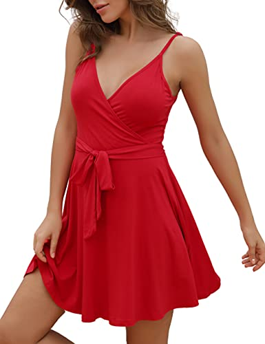 Casual Fit and Flare Mini Summer Dress