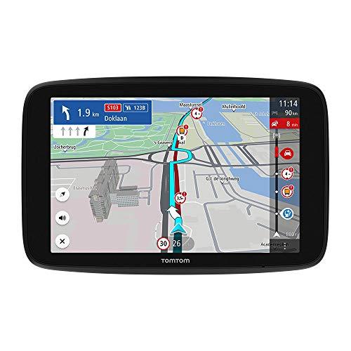 TomTom LKW Navigationsgerät GO Expert (7 Zoll HD-Bildschirm, Routen für große Fahrzeuge, Stauvermeidung dank TomTom Traffic, Weltkarten, Warnungen zu Beschränkungen, schnelle Updates über WiFi)