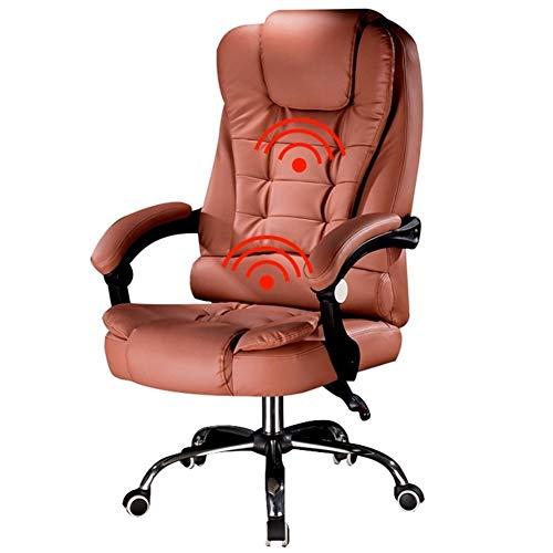 MYBHD Massagesessel, Computerspielstuhl, Spezialstuhl mit Hebe- und Drehfunktion (Farbe: Bernstein, ohne Fußstütze)