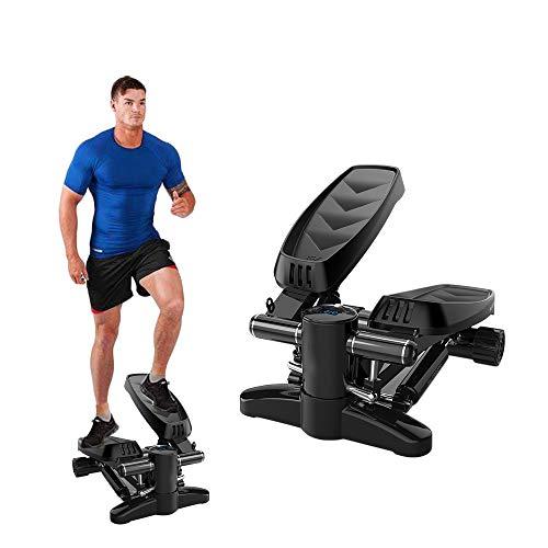 EPHIIONIY Stepper - Máquina de ejercicios para el hogar, con banda de resistencia, carga máxima de 120 kg, color negro