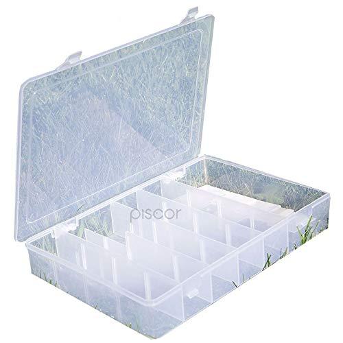 Lineaeffe Boîte Poly 5 32 x 22.5 x 5 cm Boîte de Pêche Rangement Accessoire Leurre Hameçon Compartiment Plastique