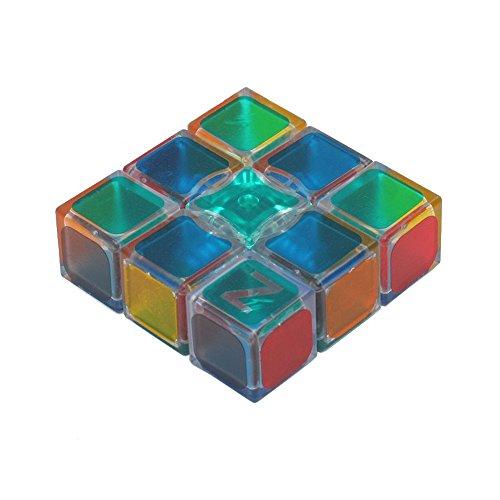 Wings of Wind - Nuevo cubo mágico de la etiqueta engomada 1X3X3, velocidad y cubo mágico del rompecabezas liso (Transparente)