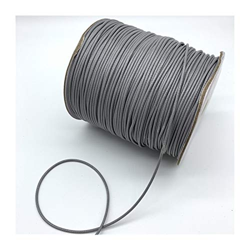 XIAOXINGXING 0.5mm 0.8mm 1mm 1.5mm 2mm Gray Waxed Cotton Cord Waxed Thread Cord String Strap Necklace Rope For Jewelry Making (Color : 1, Size : 0.8mm 10yards)