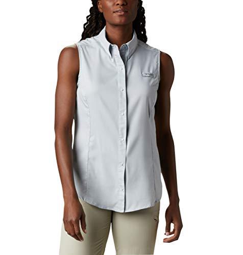 Columbia Women's PFG Tamiami Sleeveless Shirt, Cirrus Grey, Medium