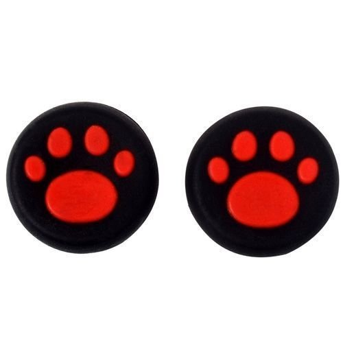 Analog Thumb Stick Grip Covers Thumbstick Joystick Cap Cover for PS4 PS3 PS2 PS4 Pro Slim Xbox One Xbox 360 (Red )