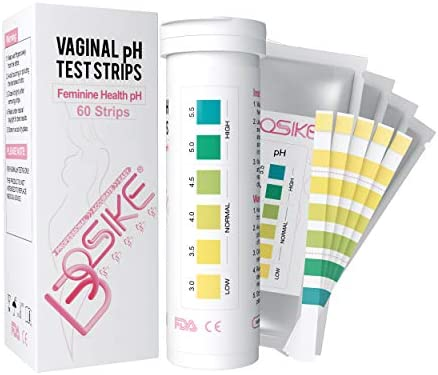 BOSIKE 60 Counts Vaginal Health pH Test Strips for Women, Monitor Feminine Vaginal Intimate Health, Balance pH Acidity & Alkalinity Level 3.0-5.5 Prevent Infections at Home