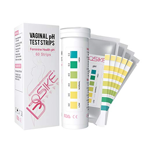 BOSIKE Vaginal Health pH Test Strips for Women, 60 Test Strips, Monitor Feminine Vaginal Intimate Health, Balance pH Acidity & Alkalinity Level 3.0-5.5 Prevent Infections at Home(20 Strips+40 Pack)