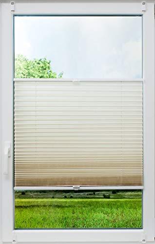 sunlines Crush, Tageslicht Creme, 120x140 Klemmfix-Plissee, PES, 120 x 140cm