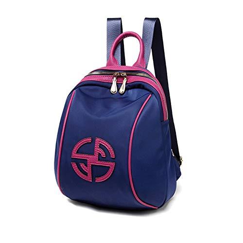 Sac À Dos pour Femme Oxford Canvas Campus Student Bag Mini Sac De Voyage Anti-vol 22 × 10 × 28CM (Color : Blue)