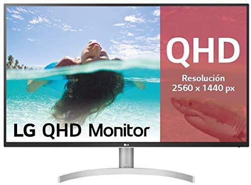 LG QHD 80 cm (31,5 Zoll) Monitor mit IPS Panel Schwarz/Weiß