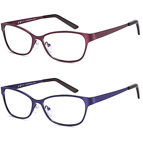 2 pares de gafas de lectura con bloqueo de luz azul, 1.5...