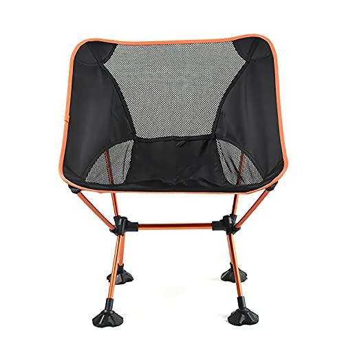 Tragbarer Camping-Stuhl - Kompakte Ultraleiche Faltende Rucksackstühle, Kleiner Zusammenklappbarer Faltbarer Verpackbarer Leichter Rucksackstuhl Für Den Außenbereich, Lager, Picknick, Wandern,Orange