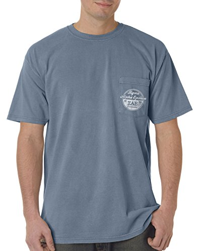 SAE Vintage Comfort Colors Pocket Tee Blue