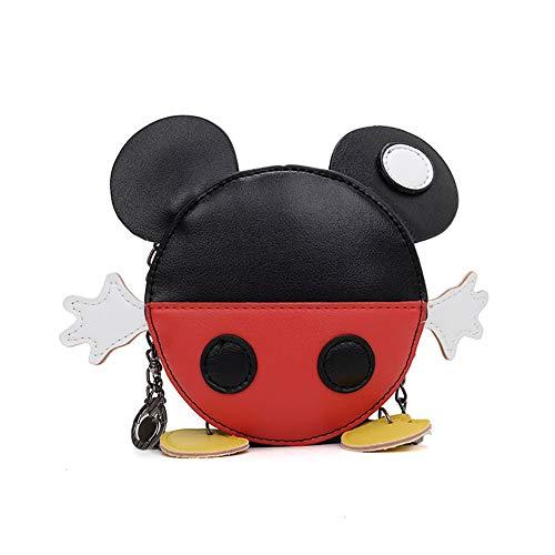 Cartoon Mick Mini Maus Handtasche Umhängetasche gepunktet Schulterrucksack kleine Snacks Tasche Pack für Mädchen Kinder Tochter, - Mickey Maus - Größe: Small