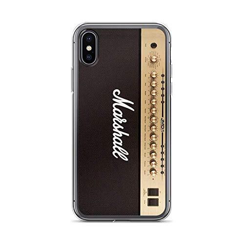 Aupek Marshall Gitaar Dubbele Versterker Compatibel met iPhone-hoesje Anti-botsing Transparant TPU, iPhone 7 Plus/8 Plus