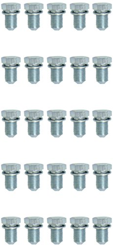KS Tools Ölablassschraube extérieur 6 pans 19 mm, 14 M x 1,5 x 17,5 mm-lot de 25 430.2027