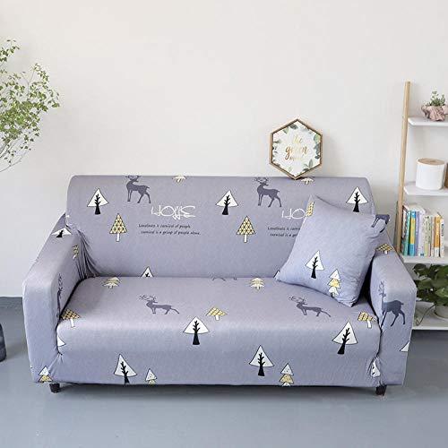Allenger Cubierta para sofá con Cuerda de fijación,Funda de sofá con Estampado elástico, Funda de sofá con Todo Incluido, Protector de sofá-A9_145-185cm