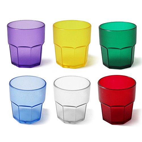Cartaffini t280mx6X Vasos, Policarbonato, Multicolor, 6Unidad