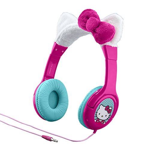 Hello Kitty Kid Friendly Headphones with Built in Volume...