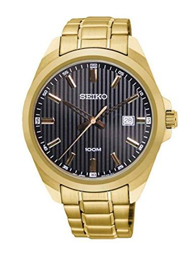 Seiko Herren Analog Quarz Uhr mit Edelstahl Armband SUR282P1