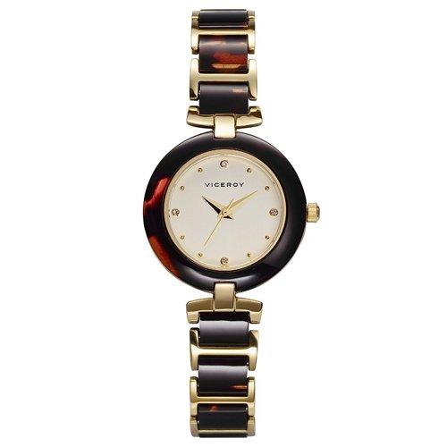 Viceroy 47700-27 Reloj de mujer con caja y cadena dorada y acetato nacarado