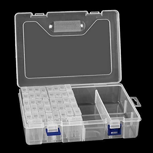 QIEP 42/84/100 Slot Ricamo Quadri Diamante Strumento Scatola di Immagazzinaggio Gioielli Organizer (42 Slot)