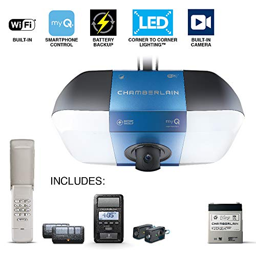 Chamberlain B6765 Belt Drive LED Wi-Fi Garage Door Opener with Camera