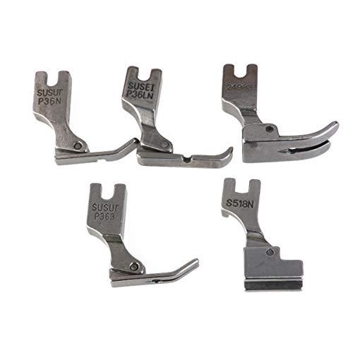 iplusmile 5 Stks Naaivoeten Fabriek Naaivoeten Naaimachine Accessoire Voor Juki S518NS P36LN P36N P351 P363