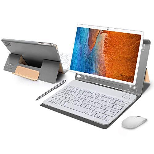 Tablet 10 Pulgadas 4GB de RAM 64GB de ROM Android 10 Certificado por Google GMS Tablet PC Baratas y Buenas Batería 8500mAh Quad Core Dual SIM 8MP Cámara Netflix WiFi Type-C Bluetooth GPS OTG(Oro)