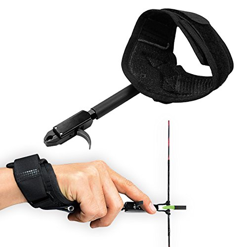 YLA Release Aids Compound Bow Caliper Release Adjustable Black Wrist Strap...