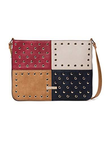 Desigual Bag Torino Molina Women - Borse a tracolla Donna, Blu (Navy), 2x23x30.5 cm (B x H T)