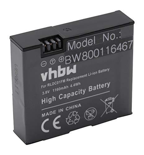 vhbw Li-Ion batería 1160mAh (3.8V) para cámara de vídeo videocámara Xiaomi MiJia Mini 4K