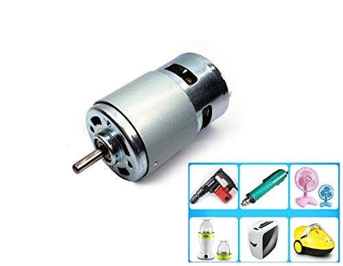 DC 24V 15000RPM High Speed High Torque 775 Motor for Toys, Paper Shredders, Car Wash Pumps, Sprayers, Vacuum Cleaners,Electric Motor Electrical Tools DIY